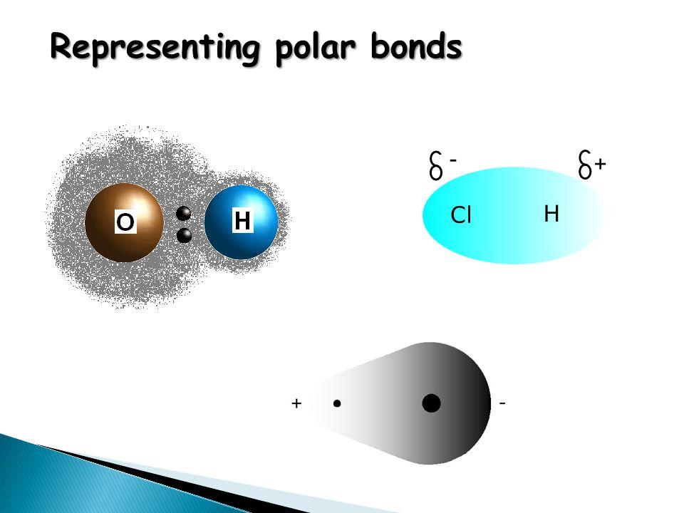 Representing polar bonds