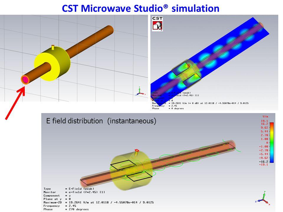 5 CST Microwave Studio® simulation E field distribution (instantaneous)