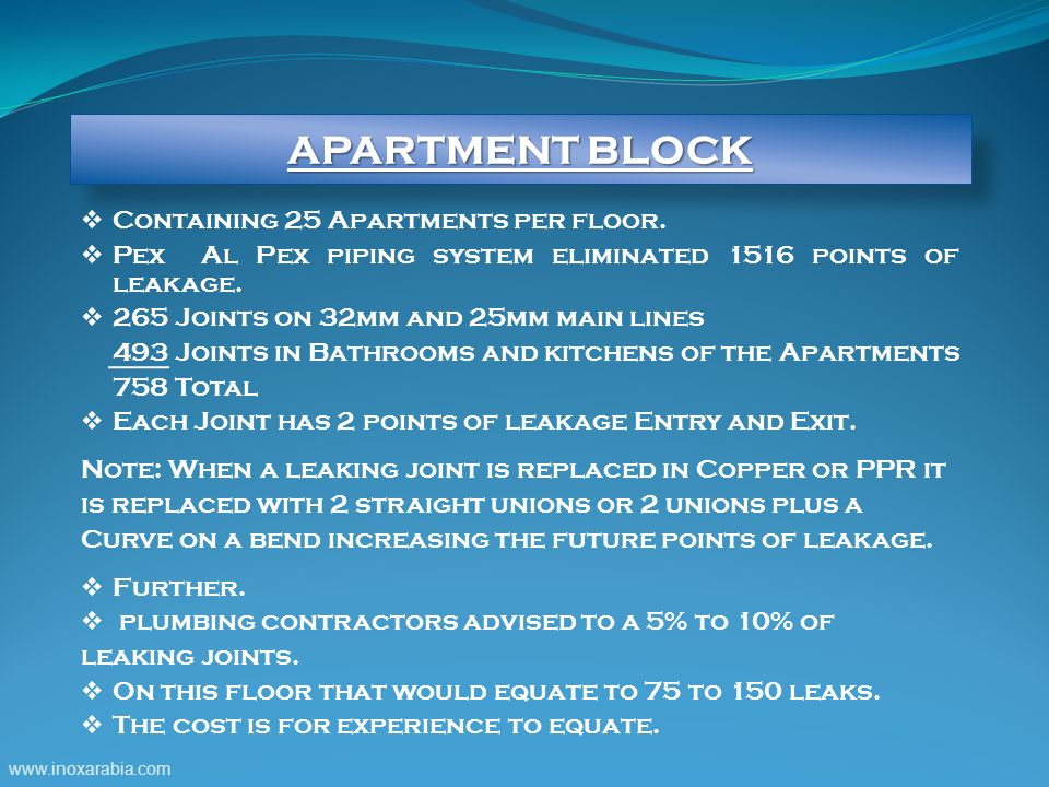 www.inoxarabia.com  Containing 25 Apartments per floor.
