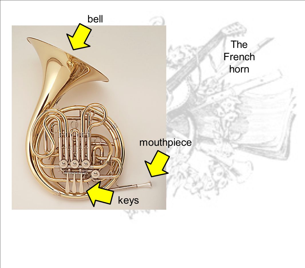 bell mouthpiece keys The French horn