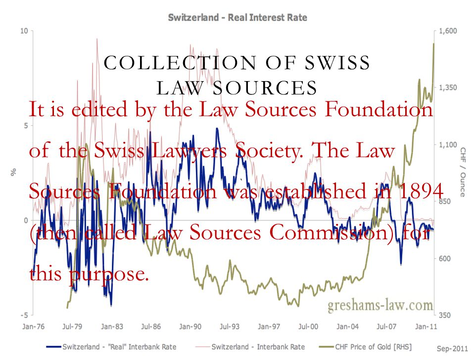 COLLECTION OF SWISS LAW SOURCES It is edited by the Law Sources Foundation of the Swiss Lawyers Society. The Law Sources Foundation was established in