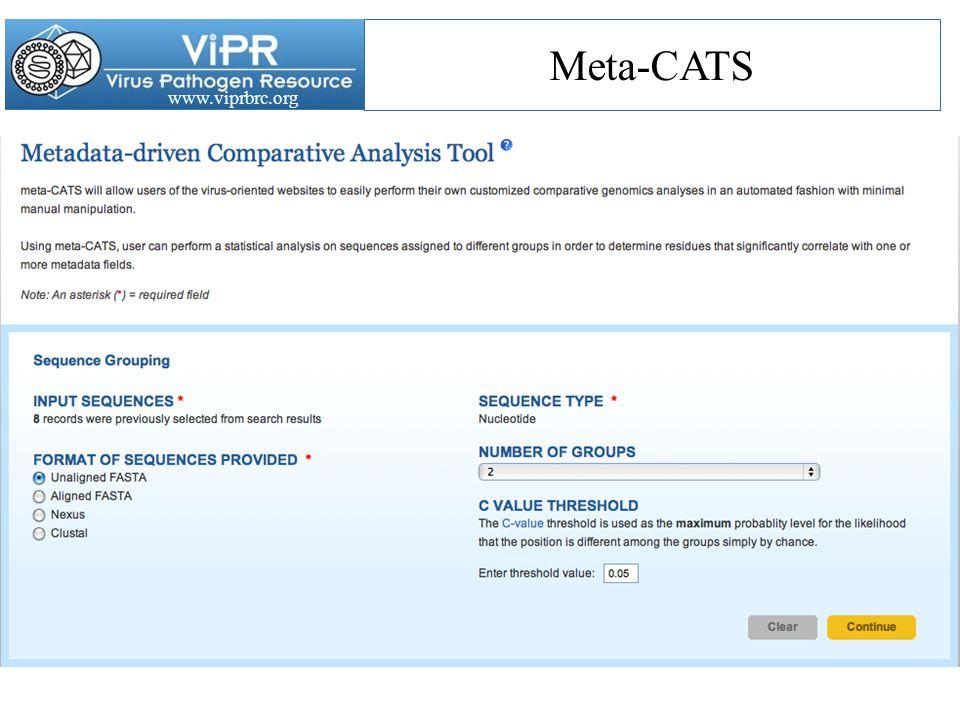 www.viprbrc.org Meta-CATS
