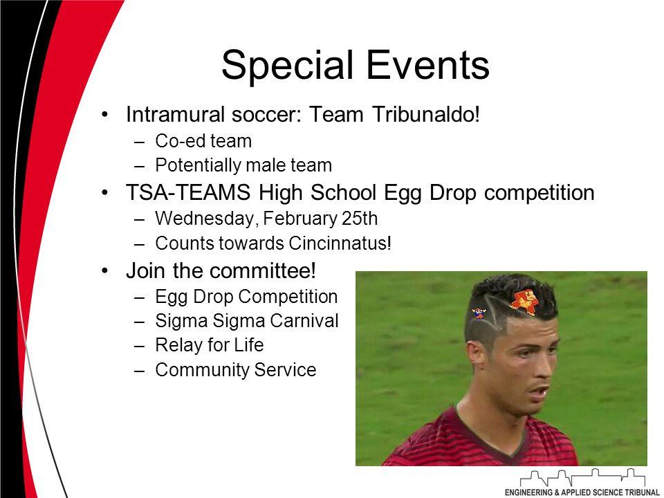 Special Events Intramural soccer: Team Tribunaldo.