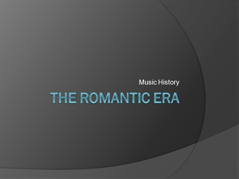 Opera  Opera took on board many of the trends of the Romantic Era: – The distinctive structures of songs, recitative, aria and chorus, gradually broke down and merged together.