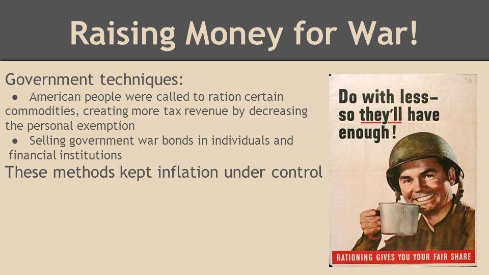 Raising Money for War.