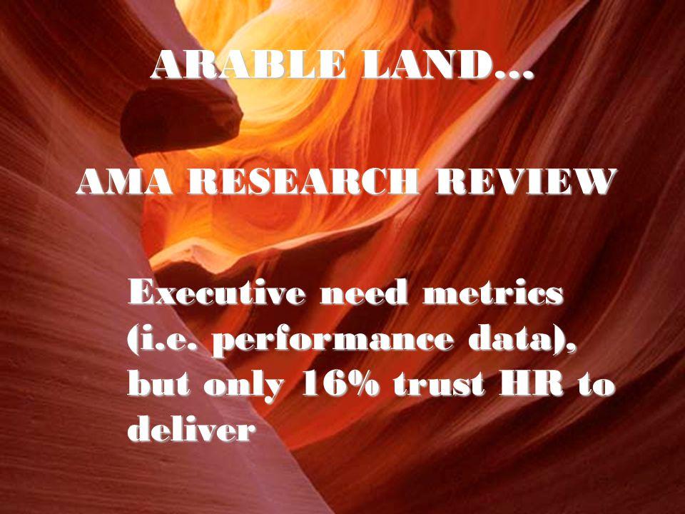 AMA RESEARCH REVIEW Executive need metrics (i.e.