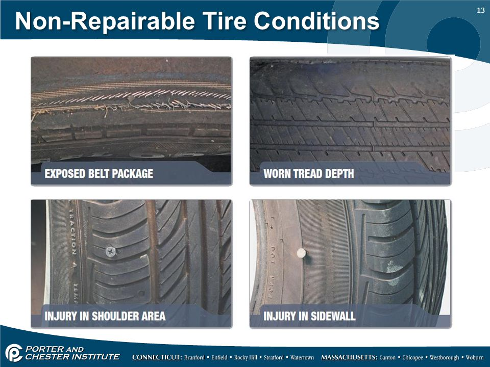 13 Non-Repairable Tire Conditions