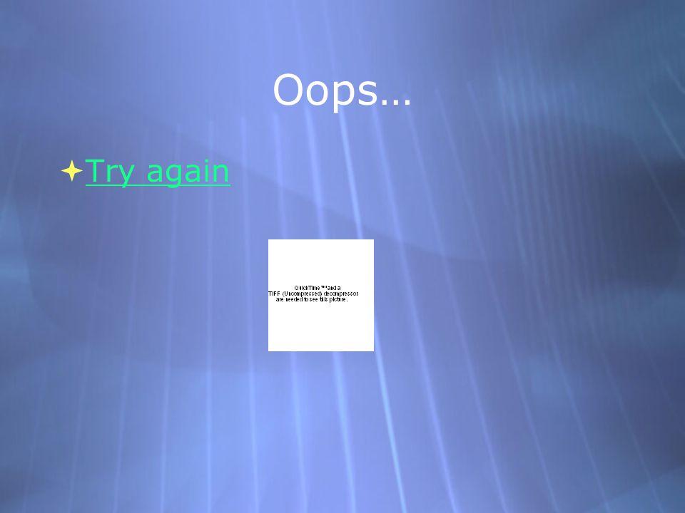 Oops…  Try again Try again  Try again Try again