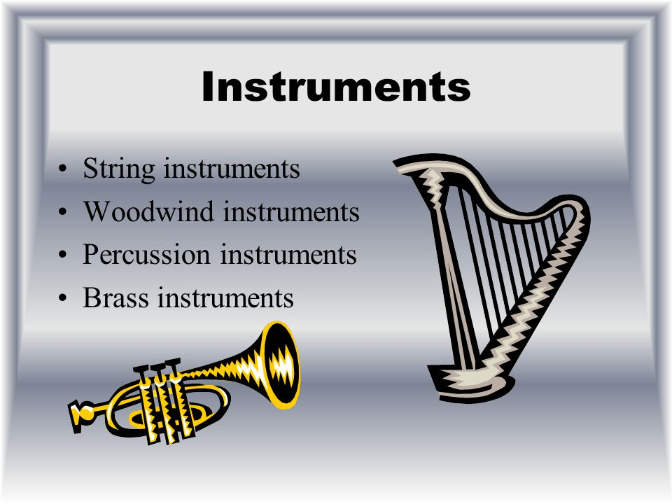 Music This is a topic on musical instruments.