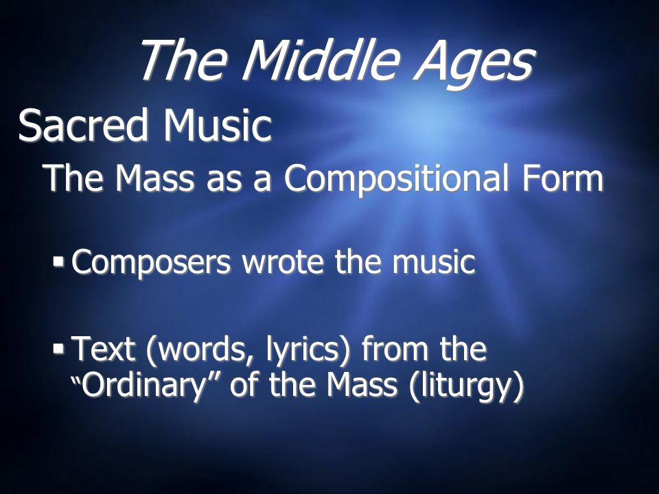 The Renaissance Sacred Music  Polyphonic vocal music  Motet Gregorian Chant out of favor Sacred Music  Polyphonic vocal music  Motet Gregorian Chant out of favor 1400 - 1650