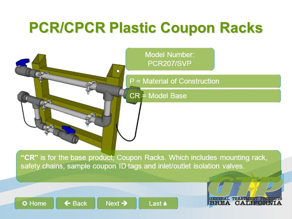 """Last  Home  BackNext  PCR/CPCR Plastic Coupon Racks """"CR"""" is for the base product, Coupon Racks. Which includes mounting rack, safety chains, sampl"""