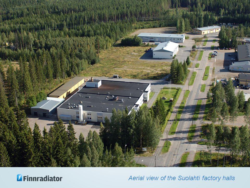 Yritys Aerial view of the Suolahti factory halls