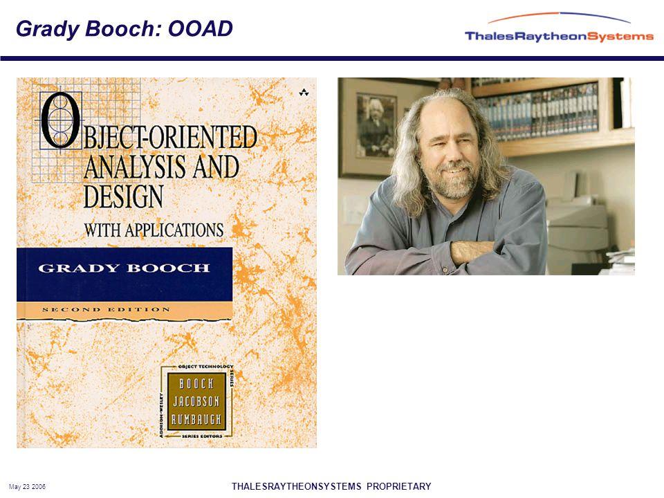 THALESRAYTHEONSYSTEMS PROPRIETARY May 23 2006 Grady Booch: OOAD