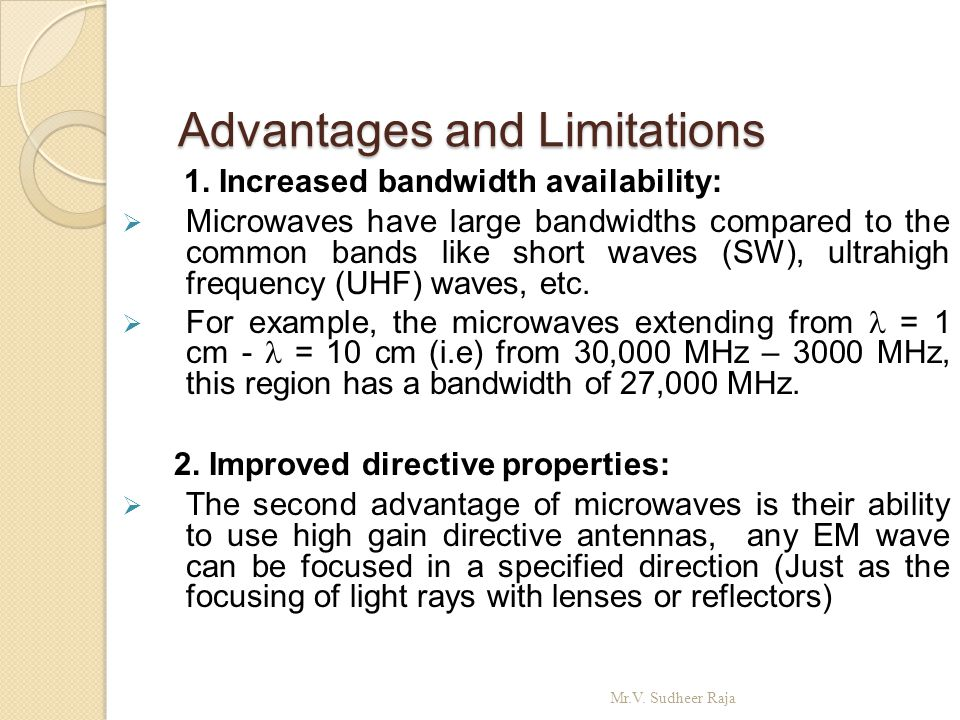 Advantages and Limitations Advantages and Limitations 3.