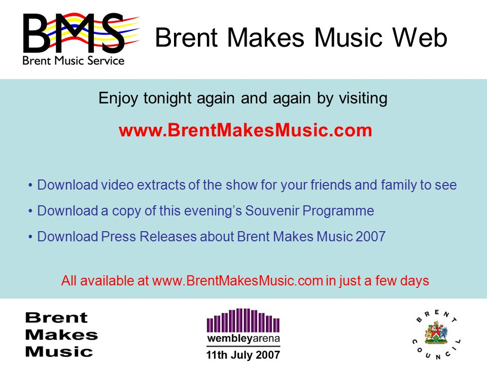 Brent Makes Music Web Enjoy tonight again and again by visiting www.BrentMakesMusic.com Download video extracts of the show for your friends and famil