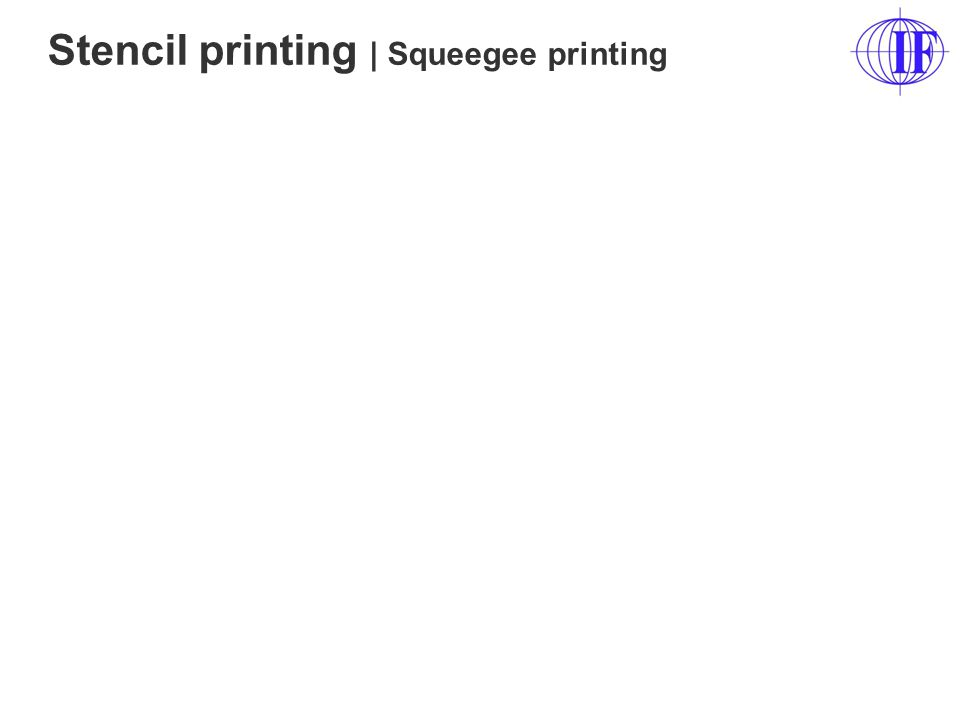 Stencil printing | Squeegee printing