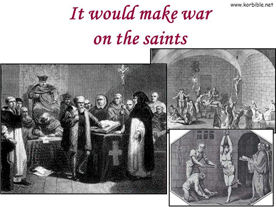 www.korbible.net It would make war on the saints