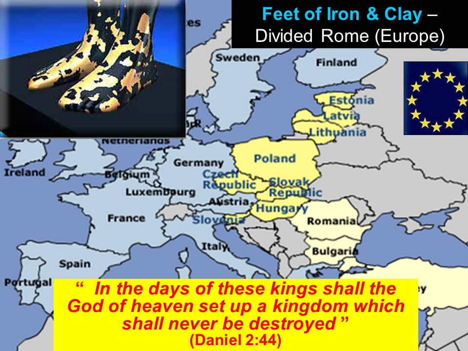 "www.korbible.net "" In the days of these kings shall the God of heaven set up a kingdom which shall never be destroyed "" (Daniel 2:44) Feet of Iron & C"