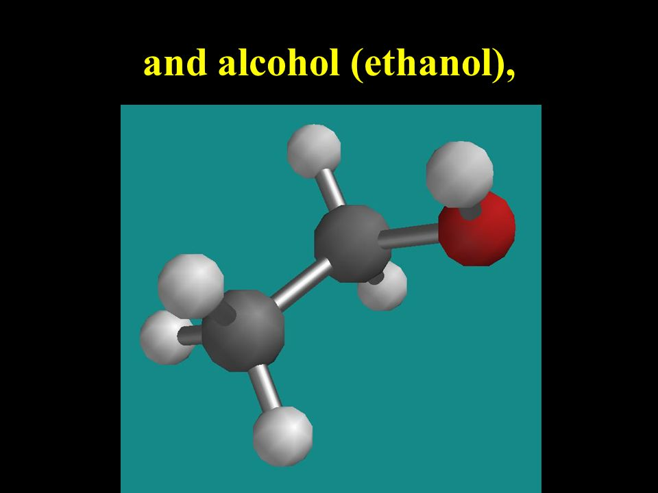 small compounds like water and carbon dioxide,