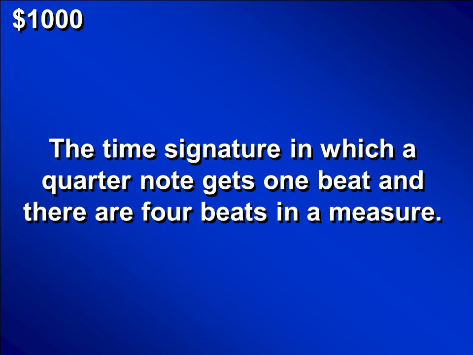 © Mark E. Damon - All Rights Reserved $800 What is how many beats per measure Scores