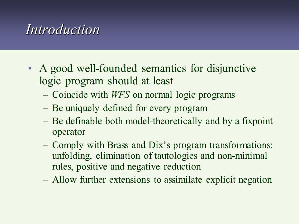 25 WFS d vs D-WFS c is true in WFS d,but undefined in D-WFS.