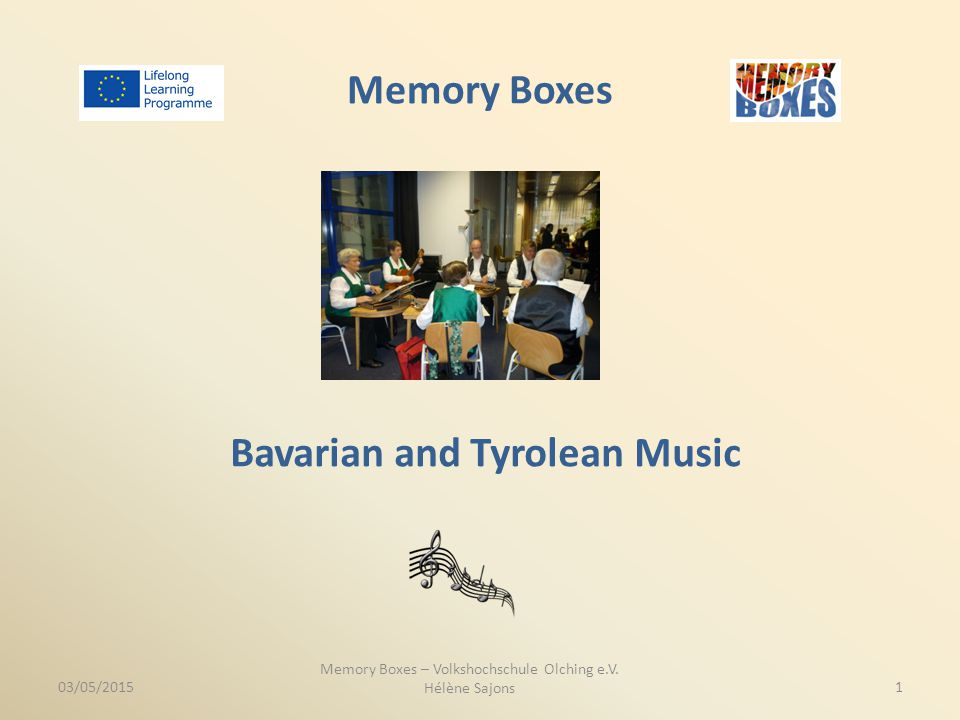 Memory Boxes Bavarian and Tyrolean Music Memory Boxes – Volkshochschule Olching e.V.