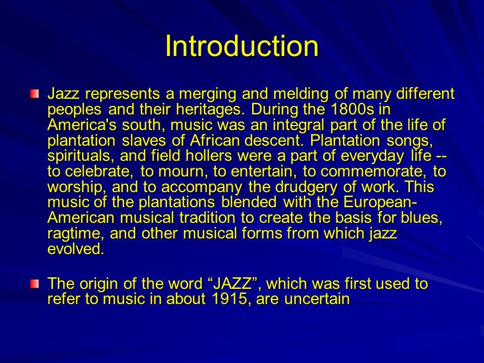 Jazz Time Line 1880 1900 1920 1940 1960 1980 2000 Ragtime Dixieland Bebop Free Jazz The Blues Cool Jazz Fusion Big Band: Early Boom Postwar to Present Latin Jazz (Afro-Cuban and Brazilian Jazz)