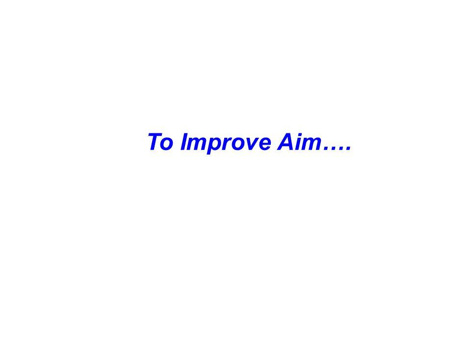 To Improve Aim….