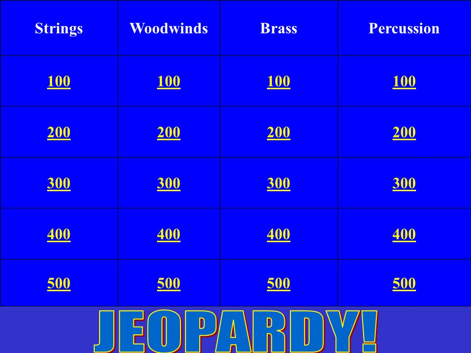 Hidden in the game are 2 bonus questions, plus a double jeopardy question. Double Jeopardy If you hear a sound when you click on your square, you may