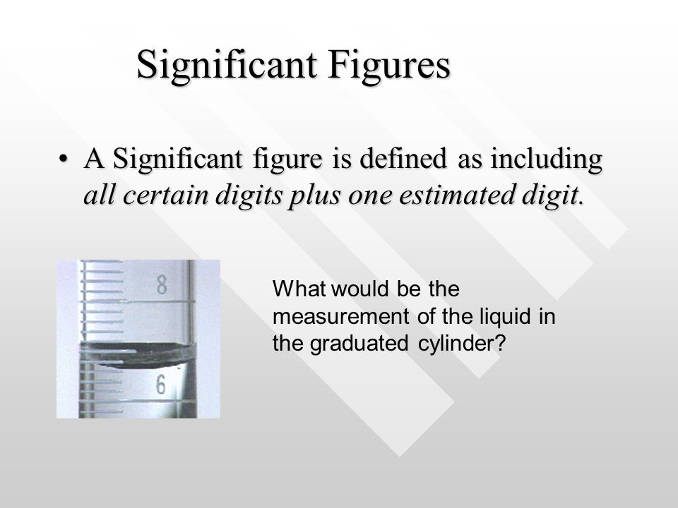 Significant Figures A Significant figure is defined as including all certain digits plus one estimated digit.A Significant figure is defined as includ