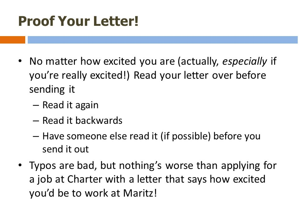 Proof Your Letter.