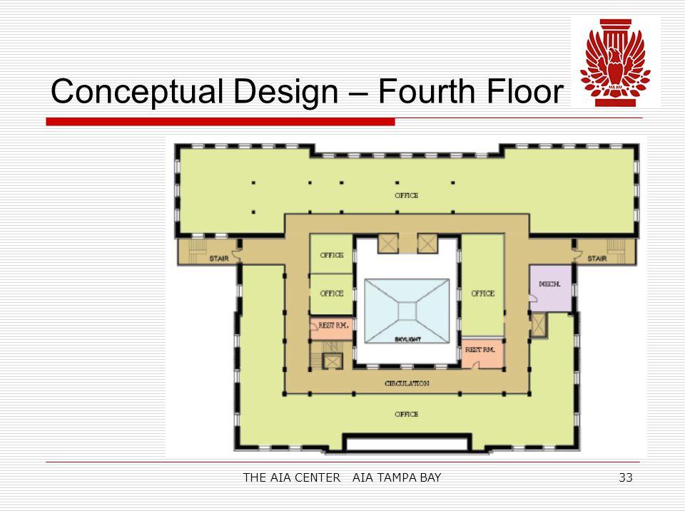 THE AIA CENTER AIA TAMPA BAY33 Conceptual Design – Fourth Floor
