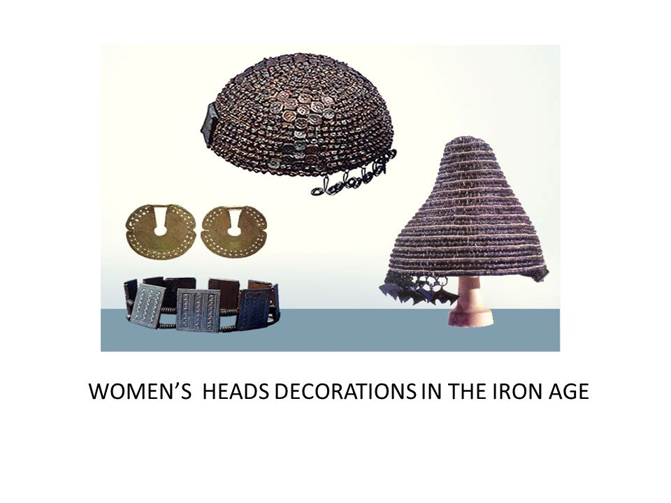 WOMEN'S HEADS DECORATIONS IN THE IRON AGE