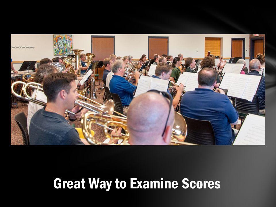 Great Way to Examine Scores