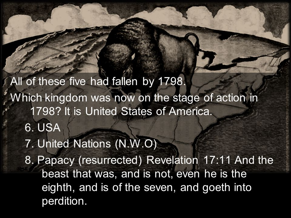 All of these five had fallen by 1798.Which kingdom was now on the stage of action in 1798.