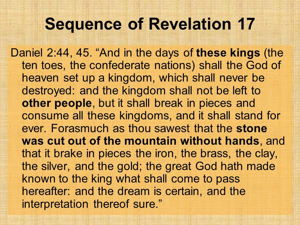 Sequence of Revelation 17 Daniel 2:44, 45.