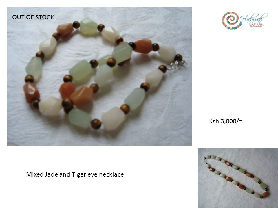 Mixed Jade and Tiger eye necklace Ksh 3,000/= OUT OF STOCK