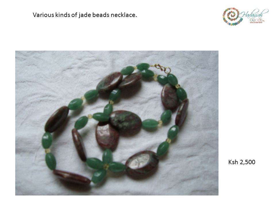 Ksh 2,500 Various kinds of jade beads necklace.