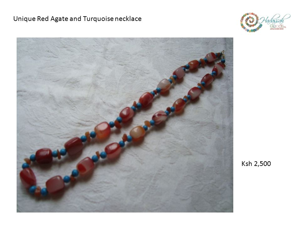 Unique Red Agate and Turquoise necklace Ksh 2,500