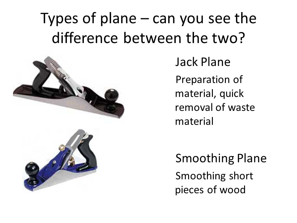 Types of plane – can you see the difference between the two.