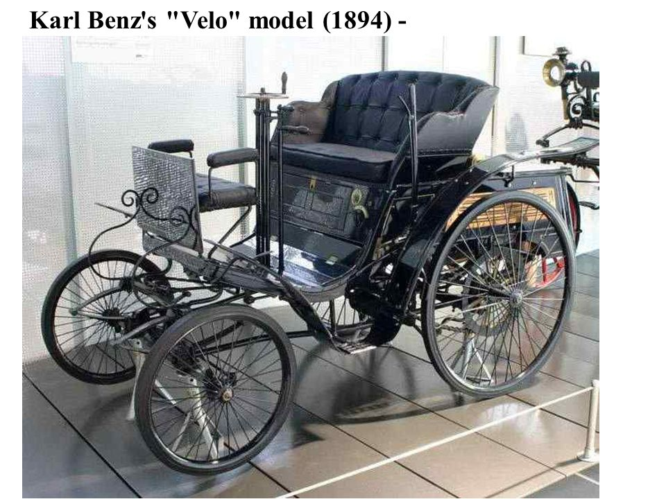 1885-built Benz Patent Motorwagen, the first car with an internal combustion engineBenz Patent Motorwagen Carl Benz