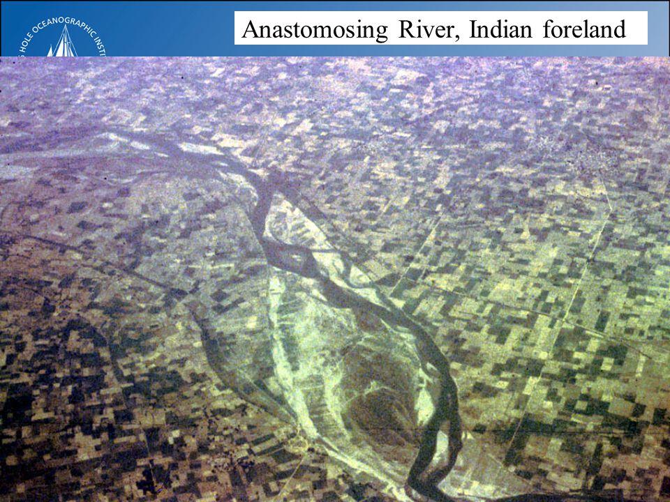 Anastomosing River, Indian foreland