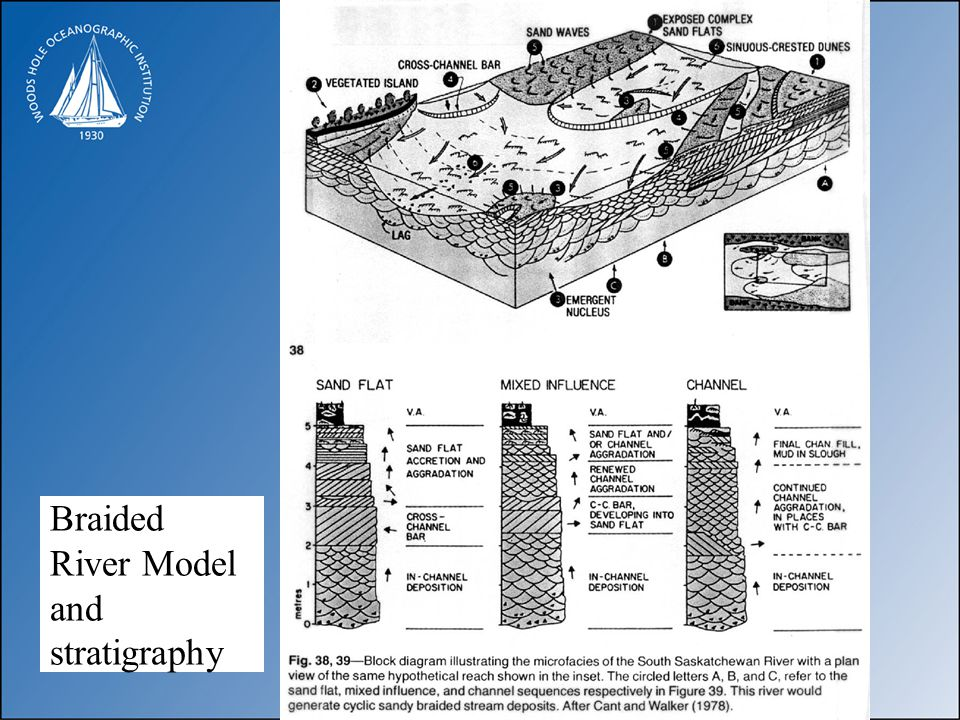 Braided River Model and stratigraphy