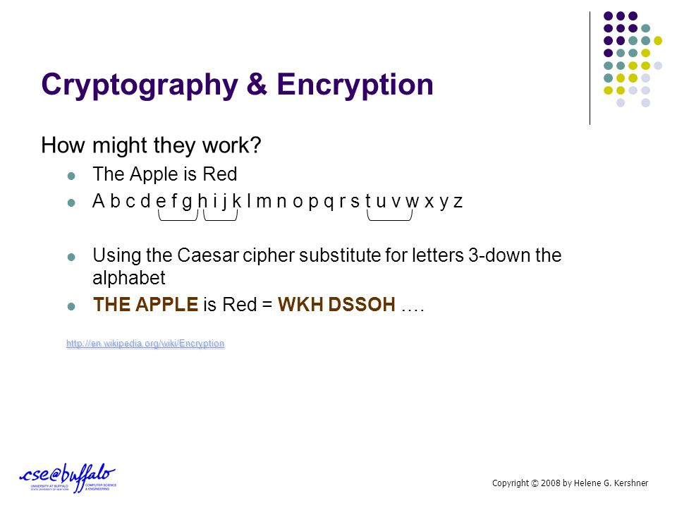 Cryptography & Encryption Taken on new importance in the Computer Age Encryption is the process of obscuring information to make it unreadable without special knowledge.