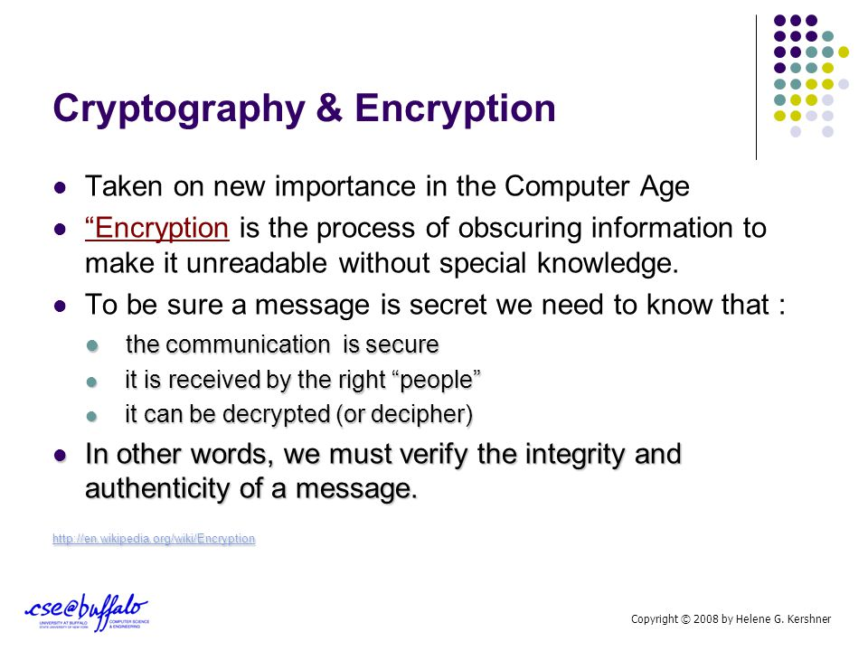 Cryptography & Encryption The Government's Need to Know Vs The Right to Privacy Are these two ideas necessarily at odds.