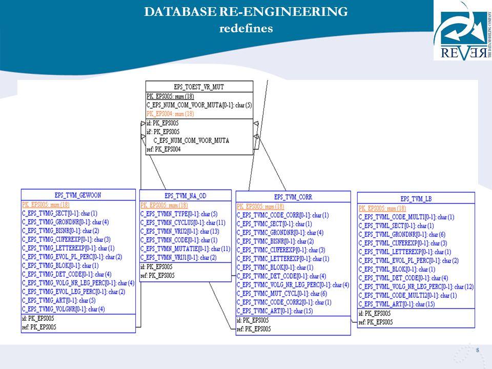8 DATABASE RE-ENGINEERING redefines