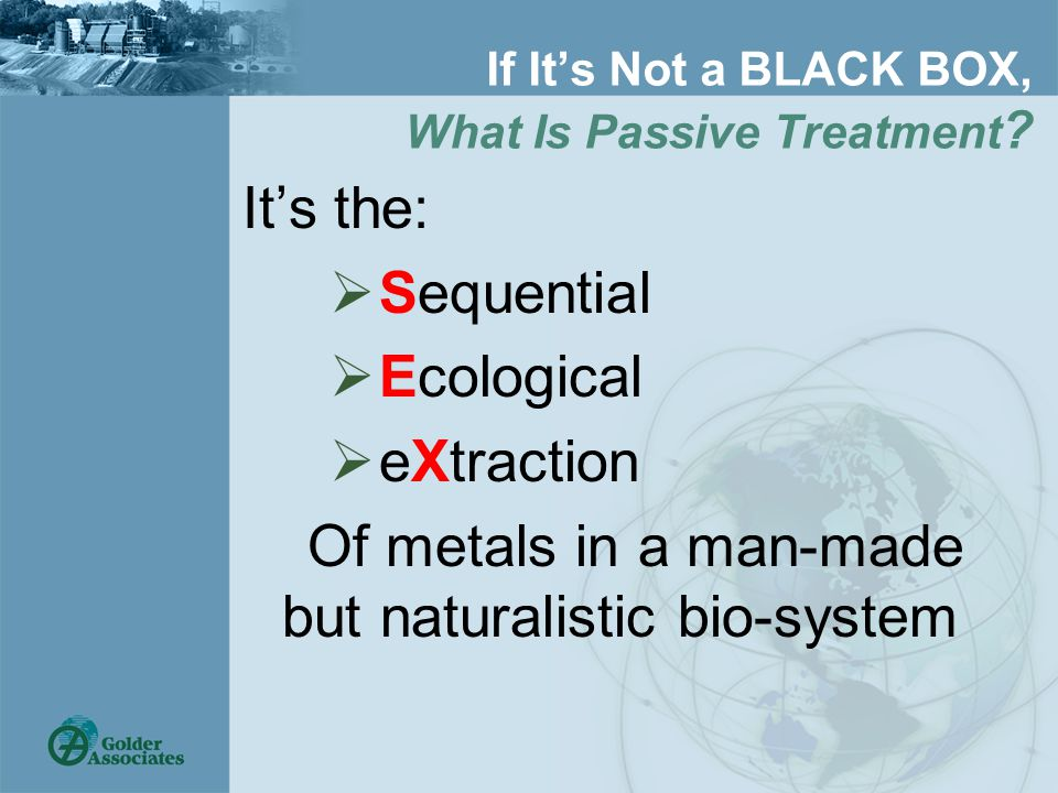 If It's Not a BLACK BOX, What Is Passive Treatment .