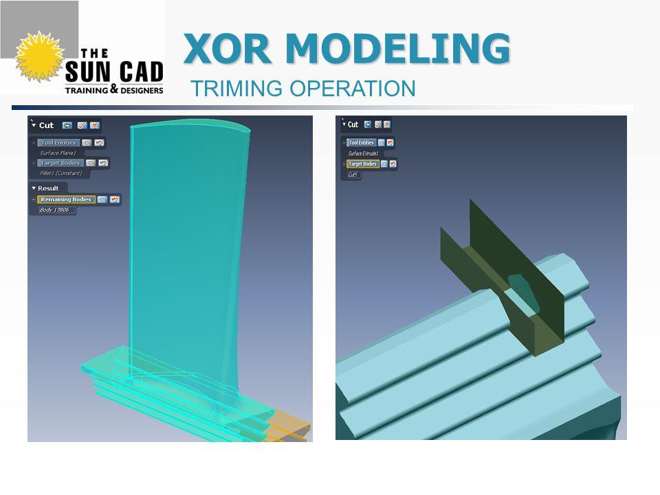 XOR MODELING XOR MODELING TRIMING OPERATION