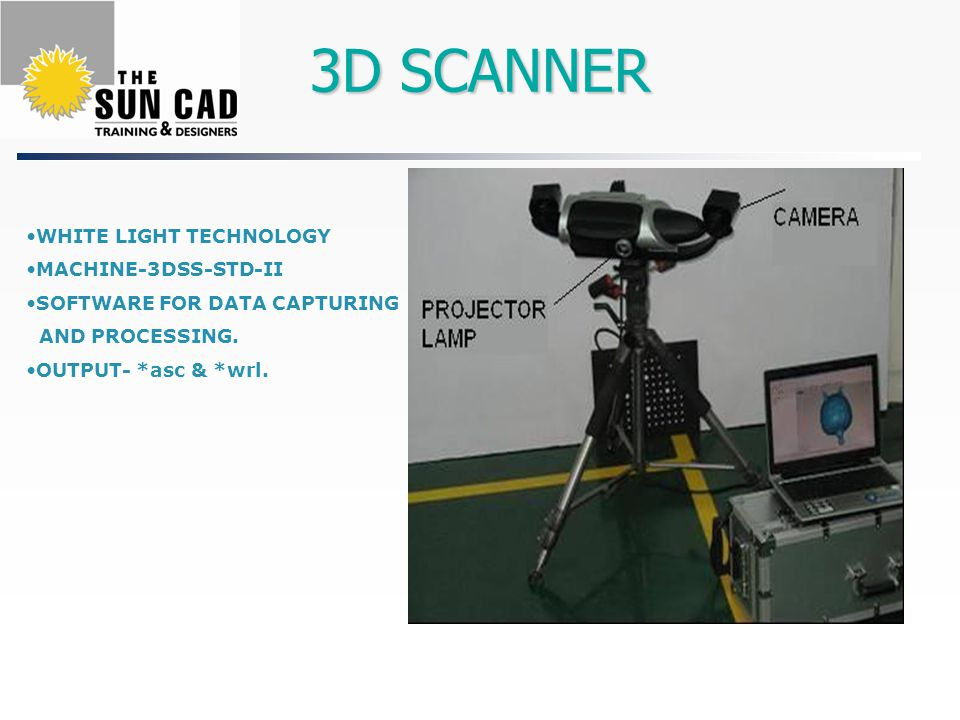 3D SCANNER WHITE LIGHT TECHNOLOGY MACHINE-3DSS-STD-II SOFTWARE FOR DATA CAPTURING AND PROCESSING.