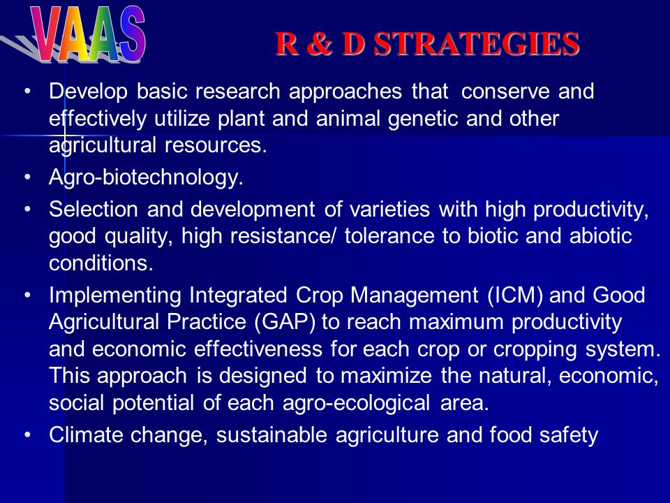 Develop basic research approaches that conserve and effectively utilize plant and animal genetic and other agricultural resources.
